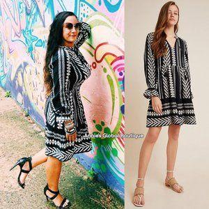 NWT ANTHROPOLOGIE Dominique Tasseled Tunic Dress